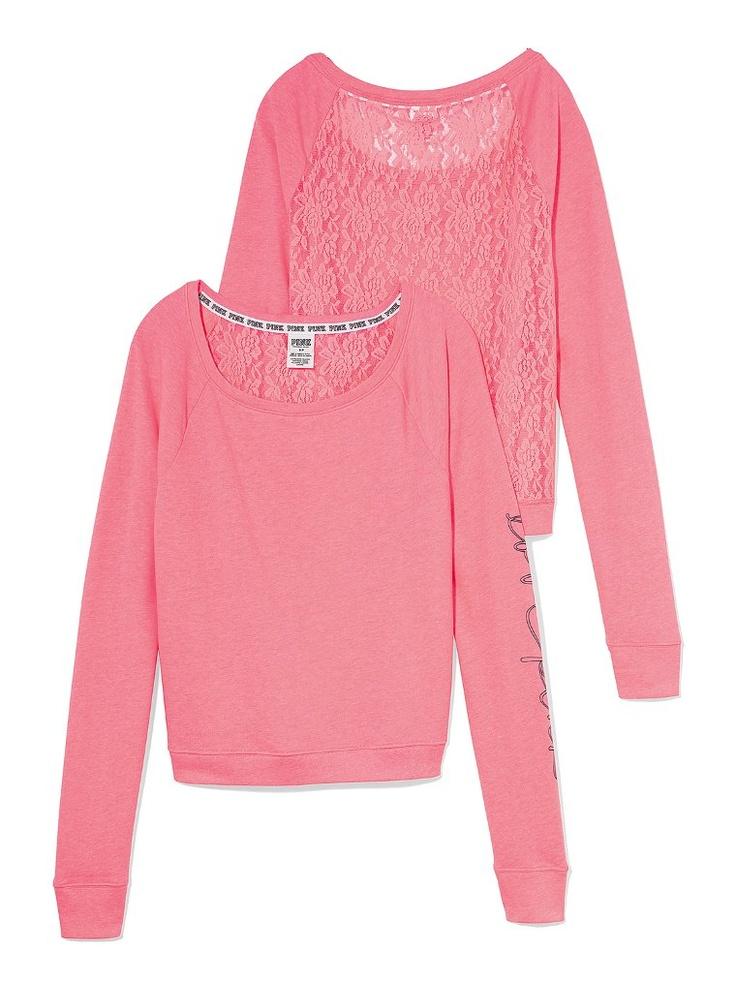 Slouchy Crew Pink Victoria S Secret