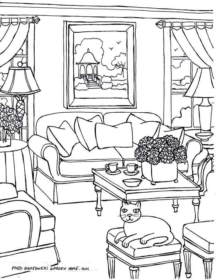 Living Room Sketch: 362 Best Rooms In The House Illustrations Images On