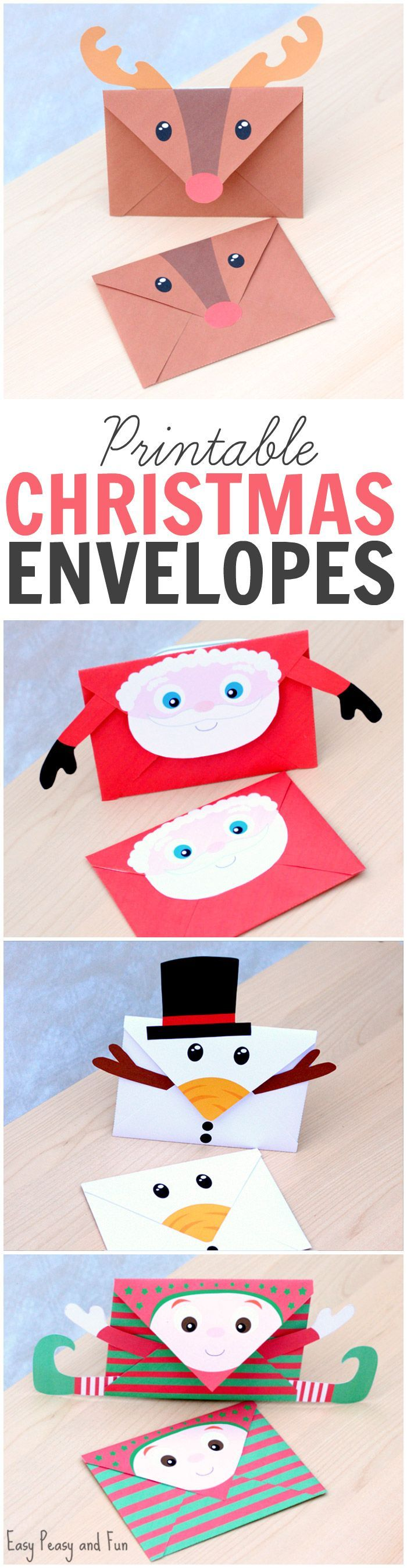 These free printable Christmas envelopes are so cute!