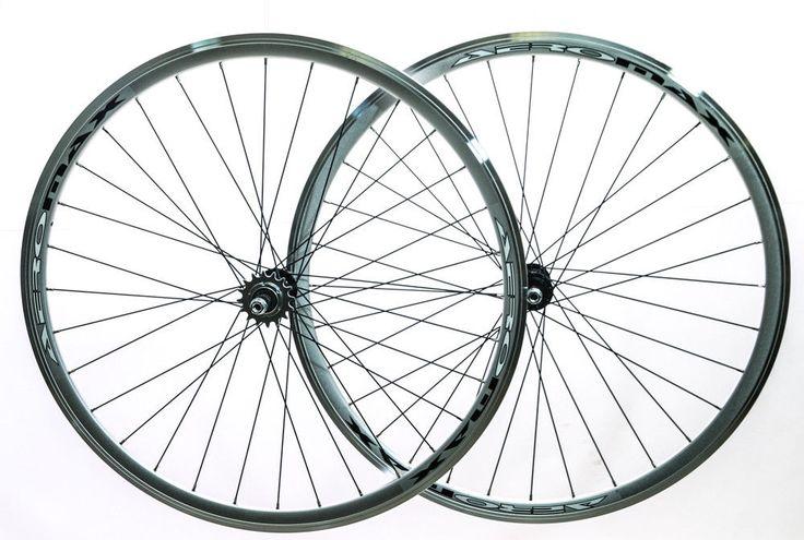 AEROMAX Track 700c Single Speed Freewheel / Fixed Gear Wheelset Bike Silver NEW