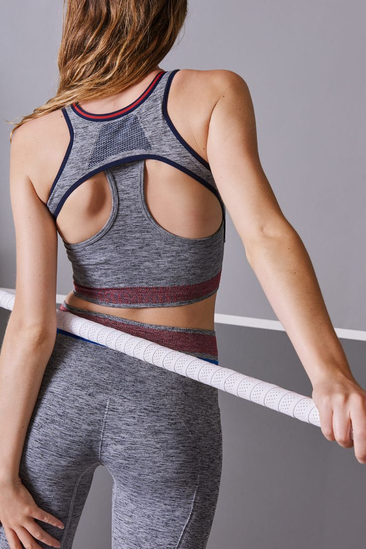 Amazing back details from this long line medium support Sports Bra from LNDR! Find it on Fashercise.com