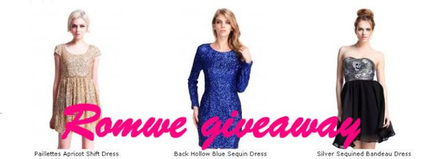 Romwe party dress giveaway (international)
