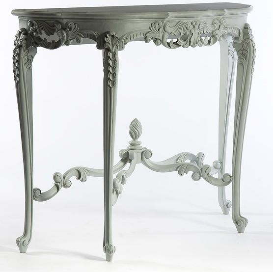 A French Style Console Table With Delicate Carved Detail And Elegant  Cabriolelegs. Available Painted Or