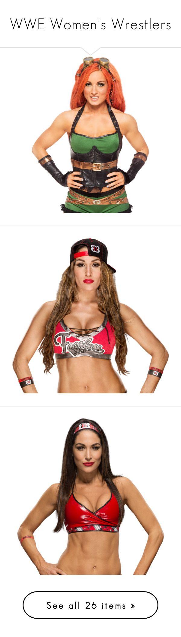 """WWE Women's Wrestlers"" by wwegirl2424 ❤ liked on Polyvore featuring becky lynch, wwe, emma, sasha banks, paige, carmella, natalya, alexa bliss, bayley and charlotte"