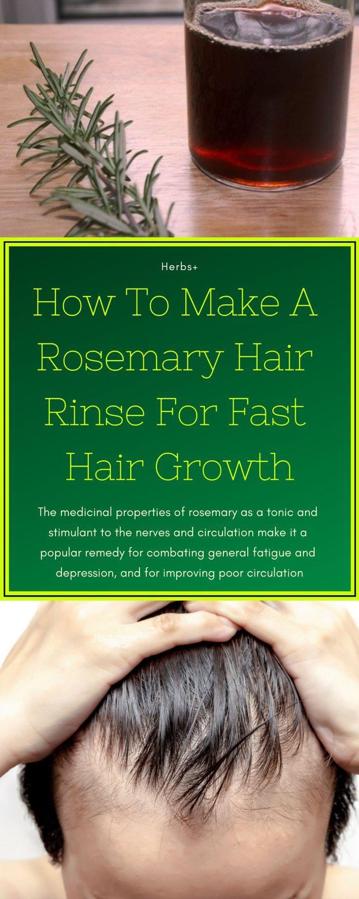Wie man ein Rosmarinhaar ausspült für schnelles Haarwachstum