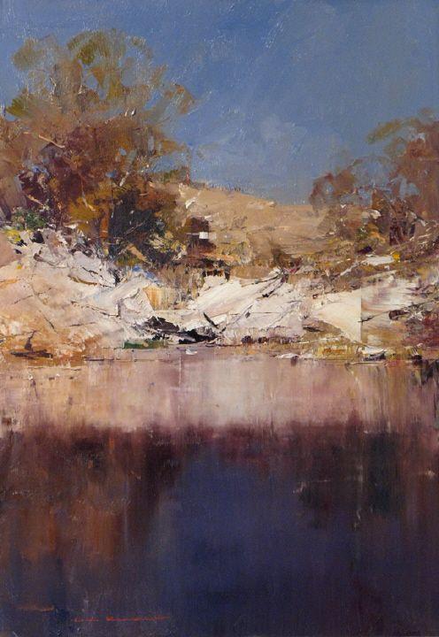 Jindabyre Hillside by Ken Knight presented by Gallery 71