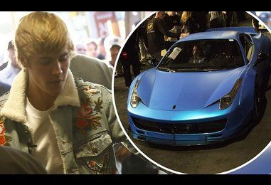 Justin Bieber auctions off Ferrari once rear-ended in paparazzi chase
