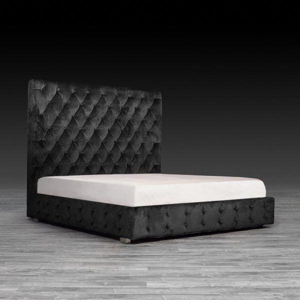 Black Velvet Modern Bed Elegant Black Bedding Black Velvet Bed Velvet Bedroom