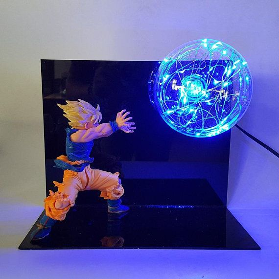 Goku Kamehameha Blue Lamp Blue Lamp Anime Dragon Ball Star Wars Lamp
