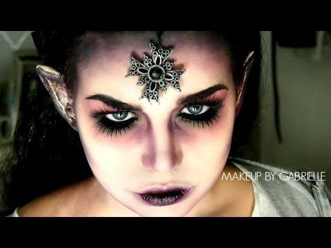 Dark Fairy/ Evil Pixie Makeup Tutorial - YouTube