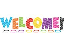 Chevron WELCOME Bulletin Board Display Set