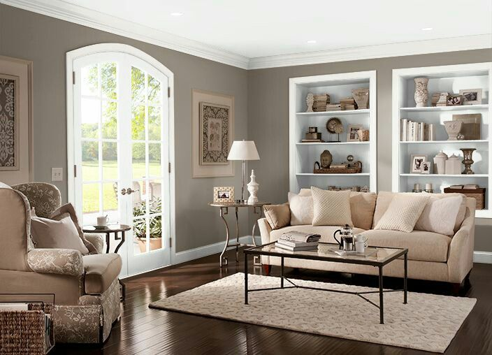 Smokestack Paint Accent Wall Living Room