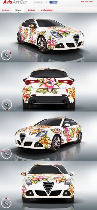 Avis Art Car...Source:vectorink