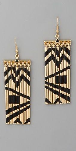 House of Harlow 1960    Metal Fringe Earrings  Style #:HOUSE40158