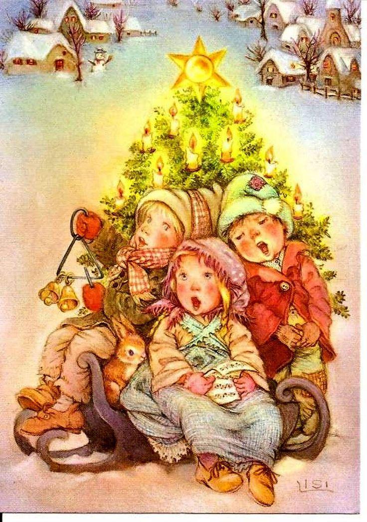 Целую, фото рождественской открытки нарисованной