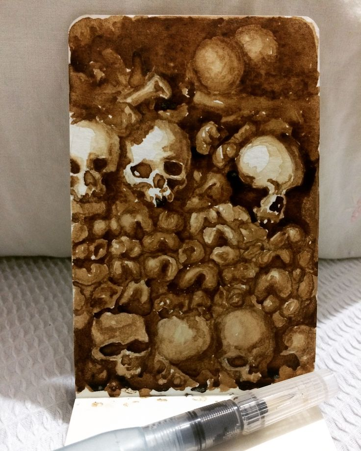 Catacumbas de paris   coffee draw   memorias sobre papel