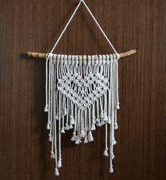 Macrame wall hanging Heart macrame Macrame wall art Bohemian wall hanging Boho…