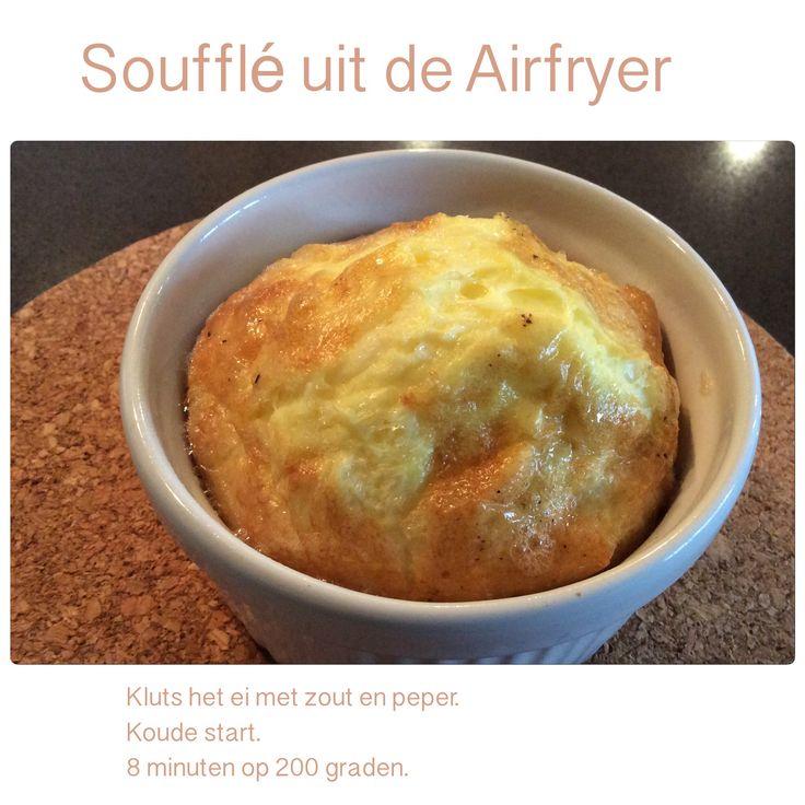 Soufflé uit de Airfryer. 8 minuten op 200 graden. AK