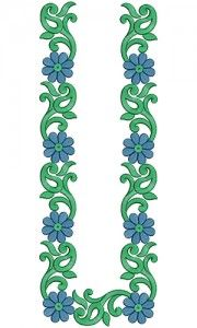 10939 Mens Neck Embroidery Design