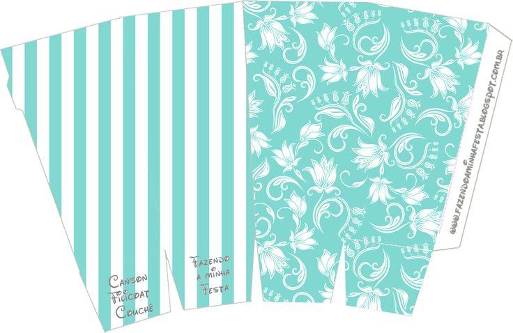 Caixa Pipoca Azul Tiffany: