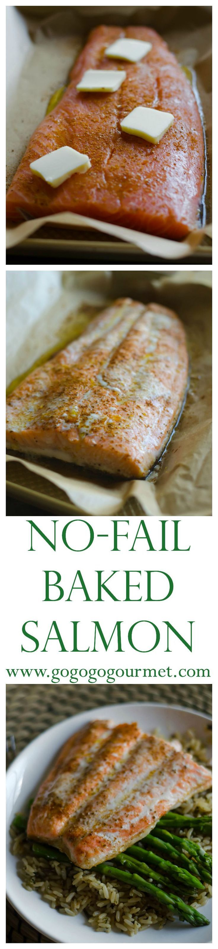13 minutes to perfectly baked salmon. No Fail Baked Salmon | Go Go Go Gourmet @gogogogourmet