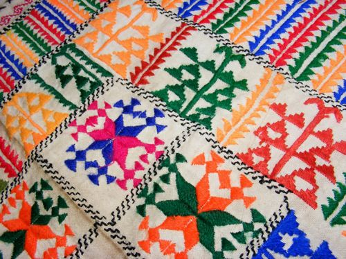 Vintage embroidered silk prayer cloth Hazara people of Bamiyan Afghanistan No-5