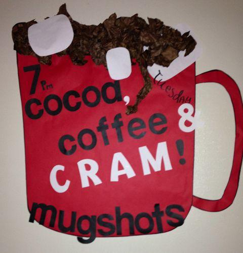 Cocoa, Coffee, & Cram - RHA event PR Nov. 2013