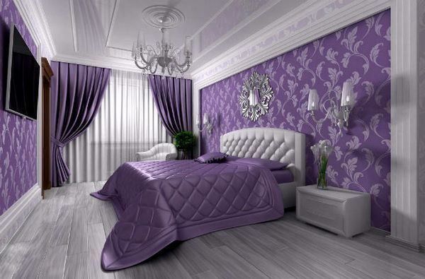 how to use purple color in bedroom interiors modern home design #purple #bedroom #design