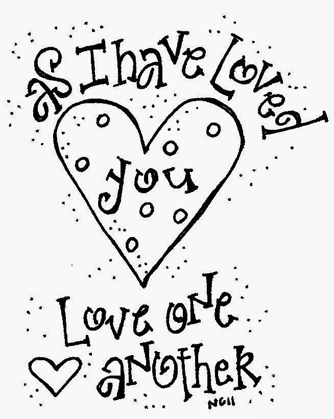 Love One Another As I Have Loved You Coloring Pages