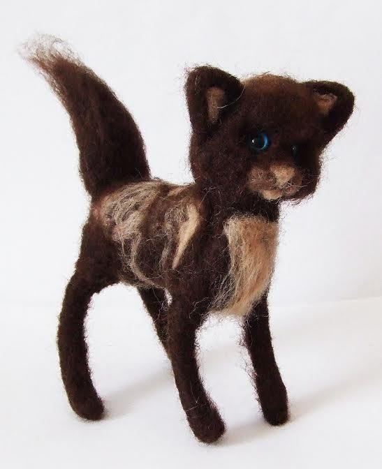 sweet Cat  needle felted miniature beautiful animal toys  handmade #15 #nutka_art #AllOccasion