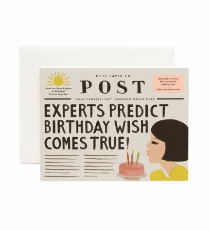 Rifle Paper Co. - Breaking News Birthday- $4.50 // Hannah