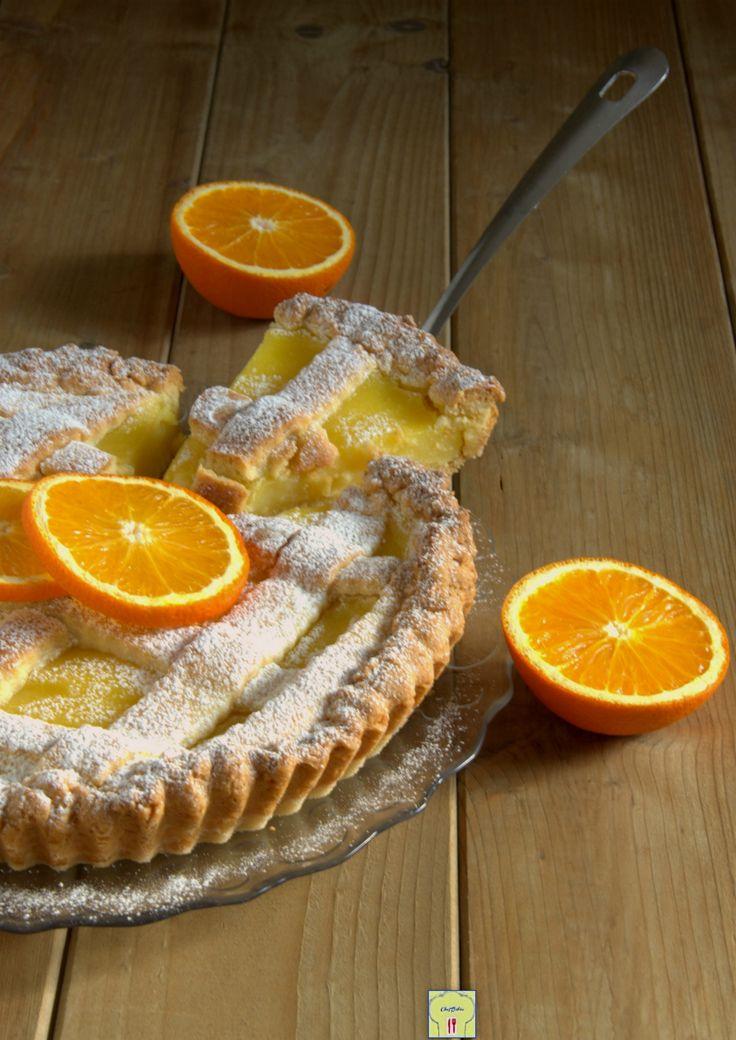 Orange tart, tart with orange cream - Crostata all'arancia, crostata con crema di arance, crostata facile