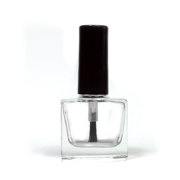 Empty Nail Polish Bottle – Rectangle (10ml) tall matte black cap - pinned by pin4etsy.com