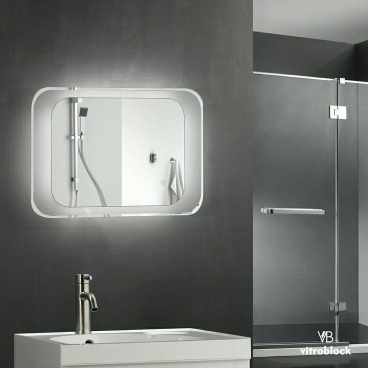 ESPEJO LED SENTINEL Iluminación Led | Desempañador ⚬ Medidas: 70 x 50 x 4,5 cm. . . #Vitroblock #Espejos #EspejosLed #Led #Decoración #Decohogar
