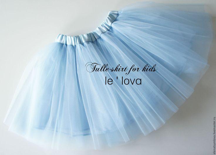 Купить Детская юбка из фатина цвет Барвинок - голубой, юбка из фатина, балетная пачка