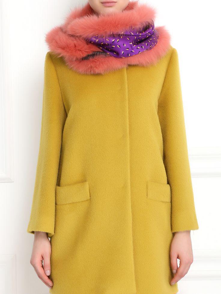 Купить Etro розовый шарф из кашемира и шелка с отделкой из меха лисы (224949), цена на шарф в интернет-магазине Bosco.ru – 52 750 руб.