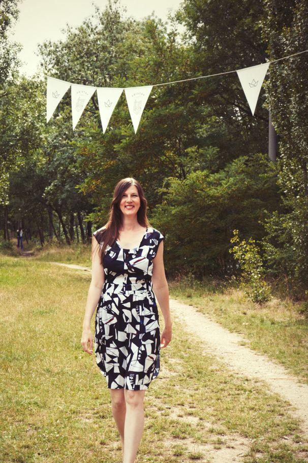 Letní šaty - autorský potisk