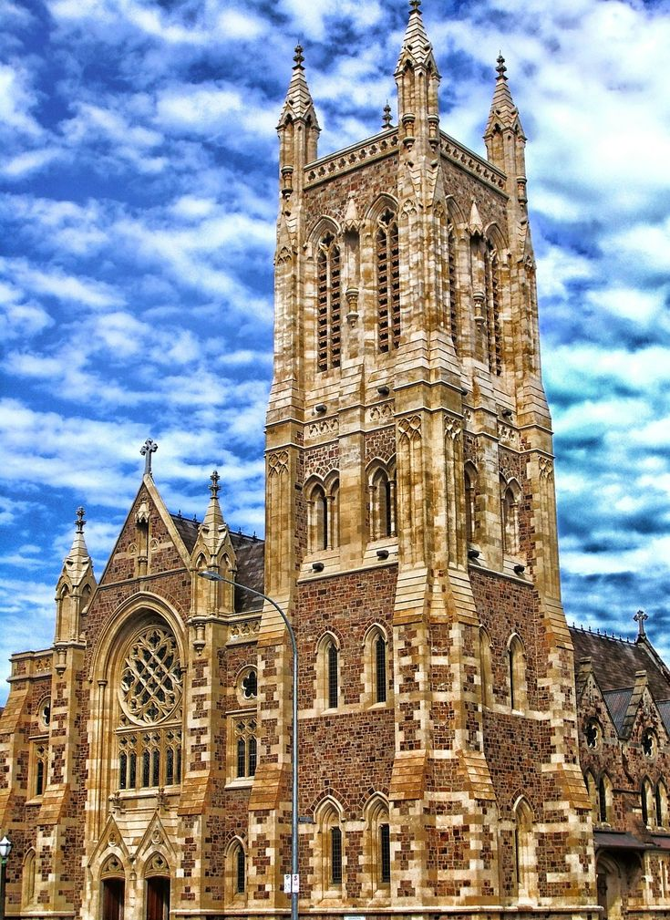 St. Francis Xavier Cathedral in Adelaide Australia stands 36 meters tall and took over a century to complete. Started in 1856 it wasn't actually completed until 1996 #Australia