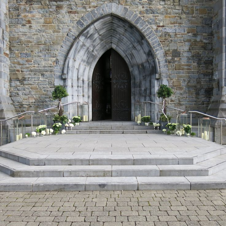 Wedding ceremony and church entrance decor. Visit www.gotchacovered.ie for more