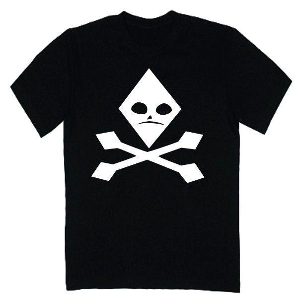 T-shirt męski - czaszka karo z FamilyInBlack.pl