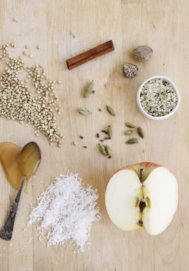 Buckwheat apple porridge from my book Hyvää huomenta (Good morning)