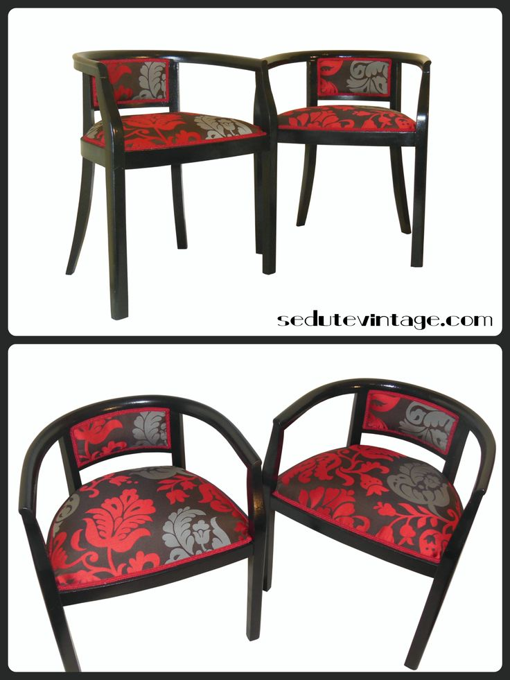 Restyling of a pair of wooden armchairs Restyling coppia poltroncine a pozzetto