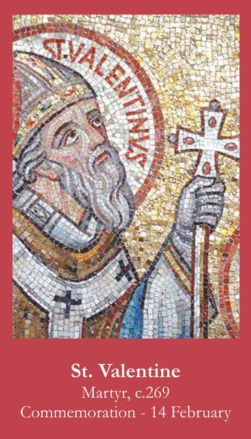 another st valentine prayer card - Saint Valentine Prayer