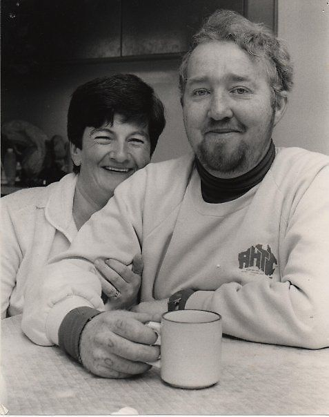 This is one of my favourite photos of my Mum and Dad. http://www.redbubble.com/people/msdebbie/works/4036934-mum-and-dad-1986 <3