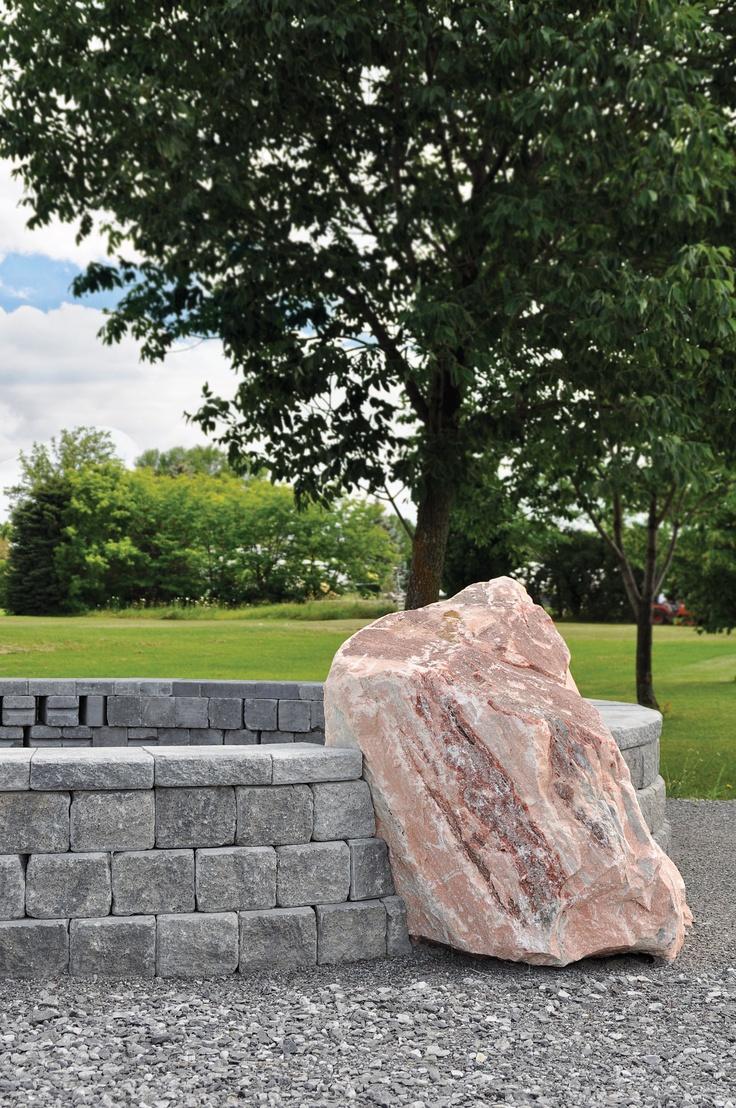 Landscape Depot, Manotick, ON - Upper Canada Stone Pink Boulder #landscape, #yard, #pink, #boudler, #interlock, #gravel