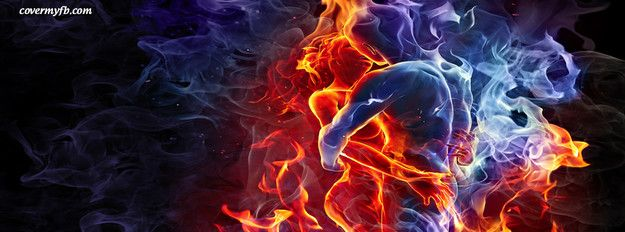 Dark Fantasy Facebook Covers: Fire & Ice Facebook Cover
