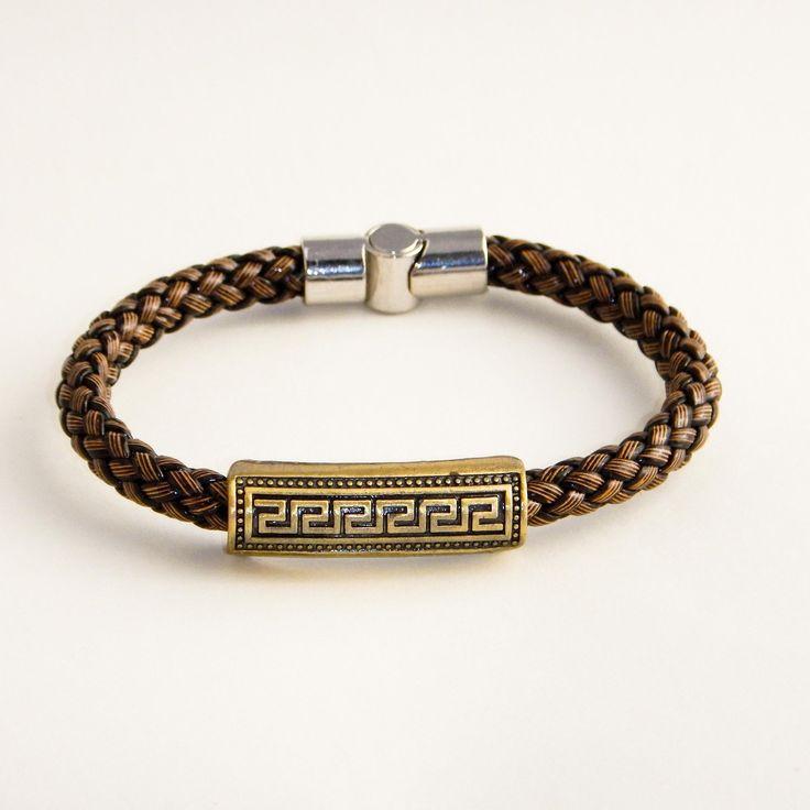 Aztec - Italian Style Brown Leather Braid Bracelet