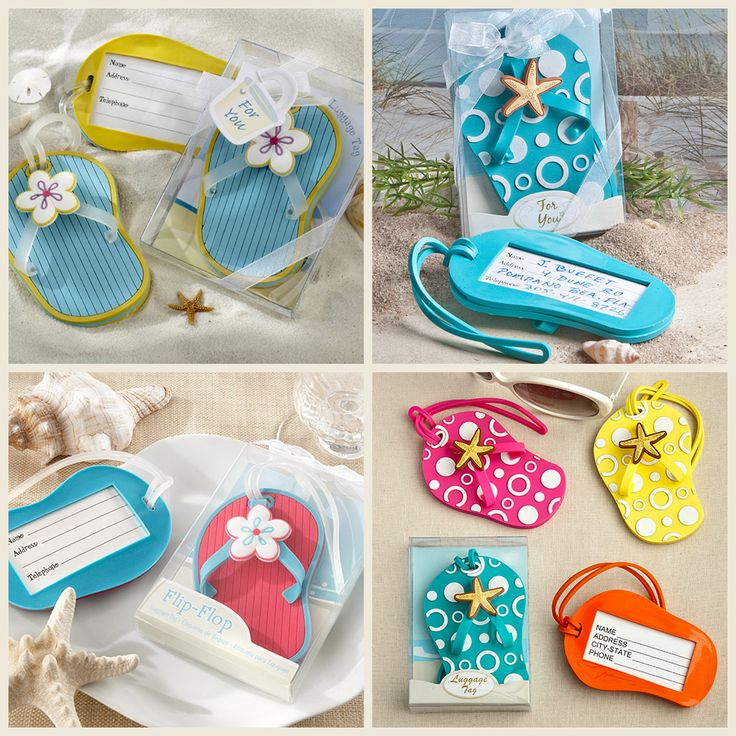 Flip Flops Luggage Tags Favors from HotRef.com