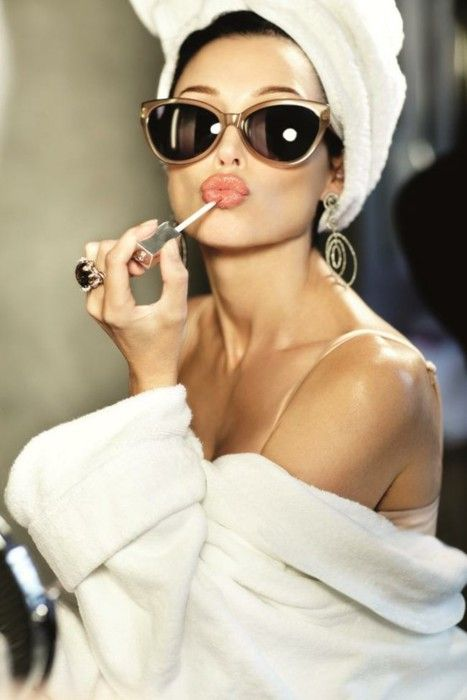 glamShades, Lips Gloss, Fashion, Style, Makeup, Audrey Hepburn, Pucker Up, Beautiful, Cat Eye Sunglasses