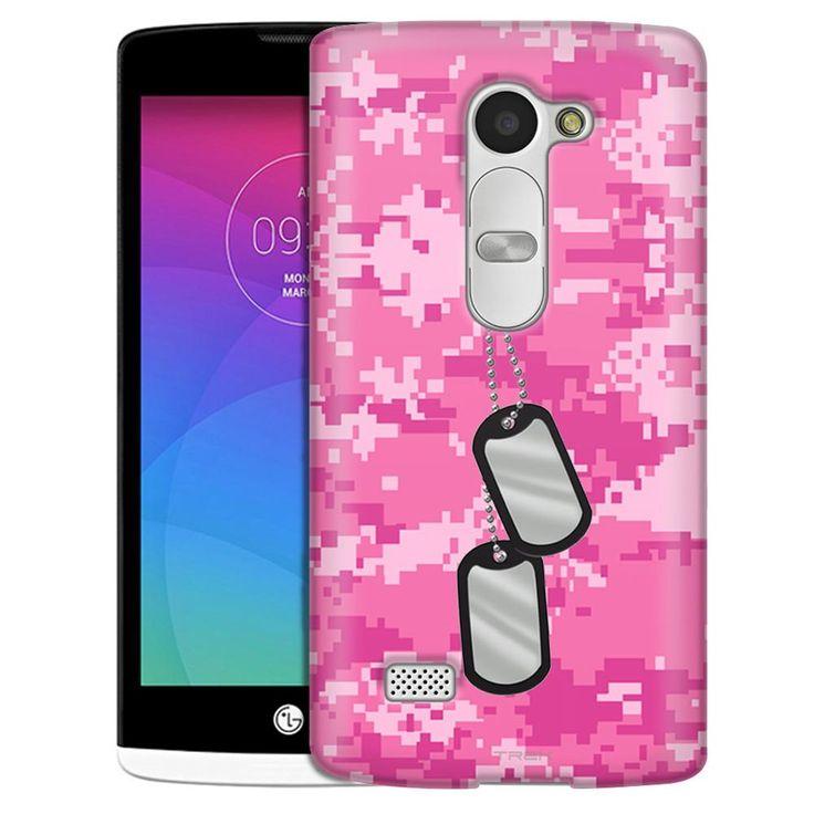 LG Leon Nameplate on Digital Pink Camouflage Case